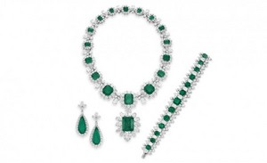 Elizabeth Taylor Bulgari Emerald And Diamond Jewelry Collection