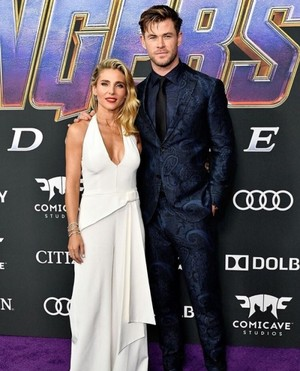 Elsa Pataky and Chris Hemsworth at the Avengers: Endgame World Premiere in Los Angeles (April 22nd)
