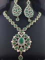Emerald Necklace And Earring Set