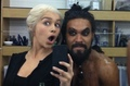 Emilia Clarke and Jason Momoa - game-of-thrones photo