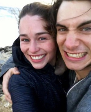 Emilia and Harry Lloyd