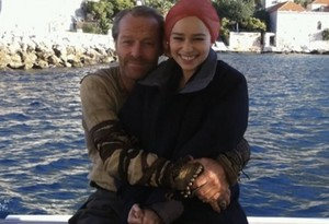 Emilia and Iain Glen