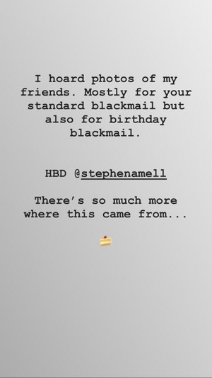 Emily's tribute to Stephen on his birthday, May 8th.