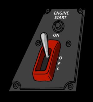 Engine start switch for VFH-10 Auroran AGAC