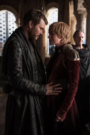 Euron Greyjoy and Cersei Lannister in 'The Last of the Starks'