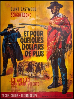 For A Few Dollars もっと見る (French Vintage Movie Poster)