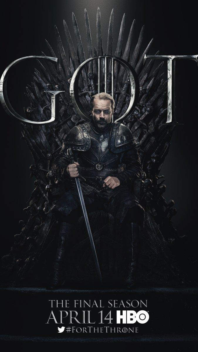 Jorah Mormont Images Game Of Thrones Season 8 Character Poster