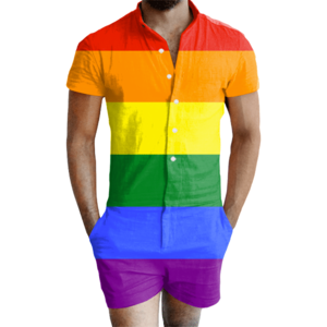 Gay pride overhemd, shirt