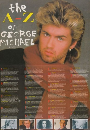 80's 音乐 壁纸 entitled George Michael
