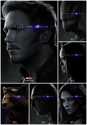 Guardians of the Galaxy ~Avengers: Endgame character posters