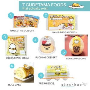 Gudetama sweets that exist