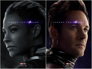 Hope and Scott ~Avengers: Endgame character posters