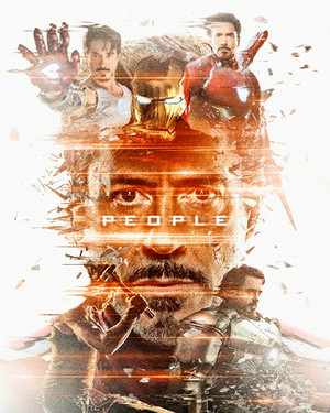 Iron Man ~Avengers: Endgame Original Six Characters Promotional Art দ্বারা masaolab