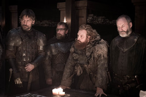 Jaime, Beric, Tormund and Davos in 'A Knight of the Seven Kingdoms'