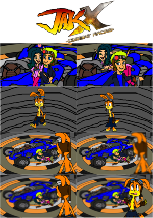 Jak X Combat Racing Sweet Eco Date Moment Ride (Short Comic) (Jak x Keira) with Daxter,,