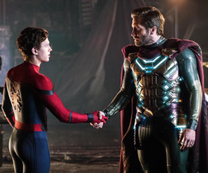 Jake Gyllenhaal as Quentin Beck and Tom Holland as Peter Parker in Spider-Man: Far From home pagina (2019)