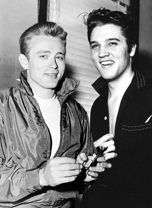 James Dean and Elvis