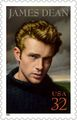 James Dean stamp - classic-movies fan art