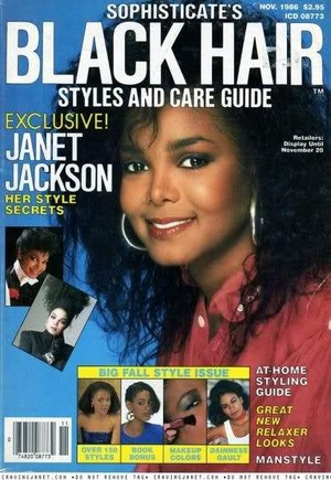 Janet Jackson On The Cover Of Black Hair Magazine