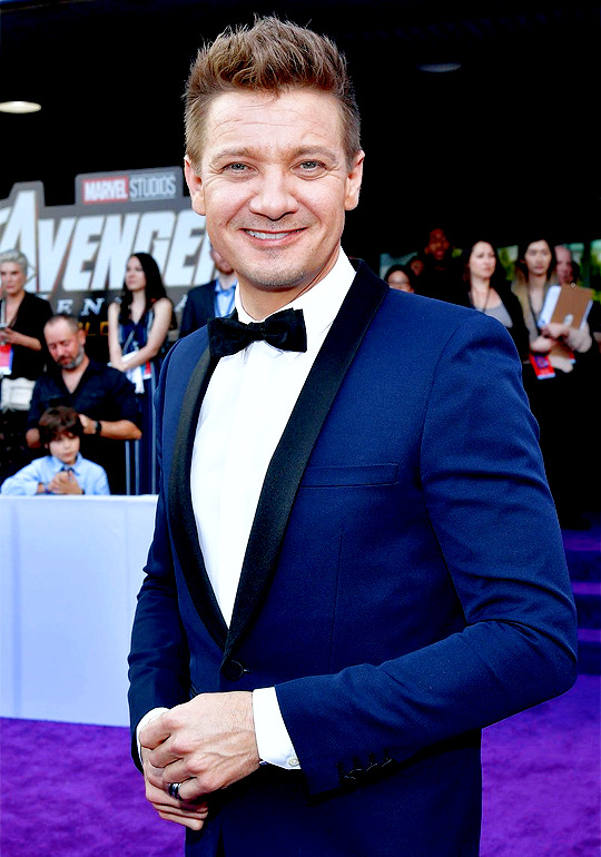 Jeremy Renner at the Avengers: Endgame World Premiere in Los Angeles (April 22nd, 2019)