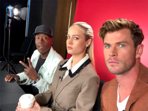 Kicking off @avengers press tour in LA with these legends