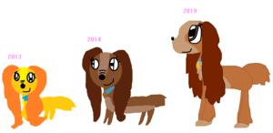 Lady (2013 VS 2014 VS 2019)