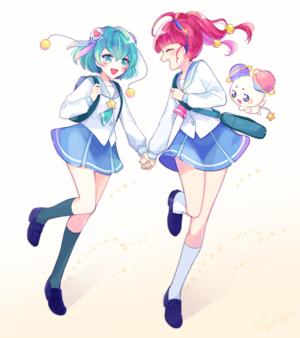 Lala, Hikaru and Fuwa