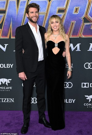 Liam Hemsworth and wife Miley @Avengers Endgame L.A. Premiere