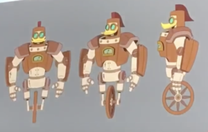 Look in Season 2 Gizmoduck's wooden suit