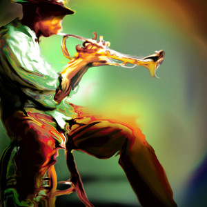 Man And His Trumpet