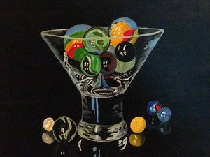 Marbles In A martini Glass