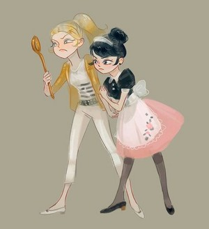 Marinette and Chloe