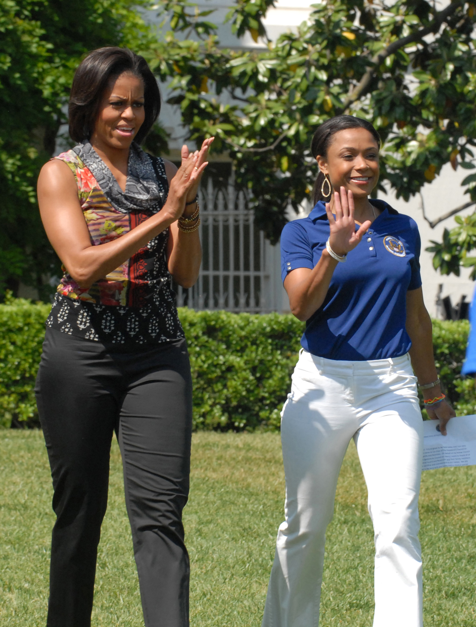 Michelle Obama And Dominique Dawes