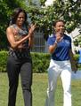 Michelle Obama And Dominique Dawes