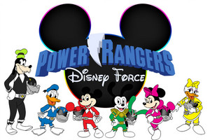 Mighty morphin Disney rangers