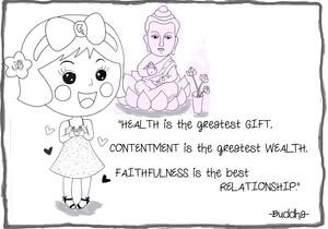 Miss La Sen and Buddha