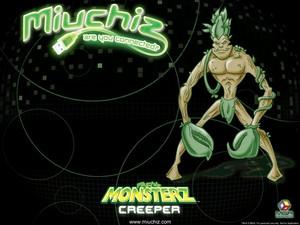 Miuchiz Monsterz Creeper karatasi la kupamba ukuta
