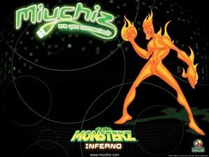 Miuchiz Monsterz Inferno karatasi la kupamba ukuta