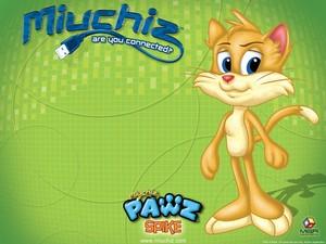 Miuchiz Pawz Spike karatasi la kupamba ukuta