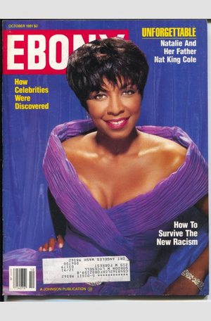 Natalie Cole On The Cover Of Ebony
