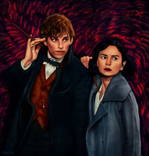 Newt/Tina Drawing - Fantastic Beasts And Where To Find Them