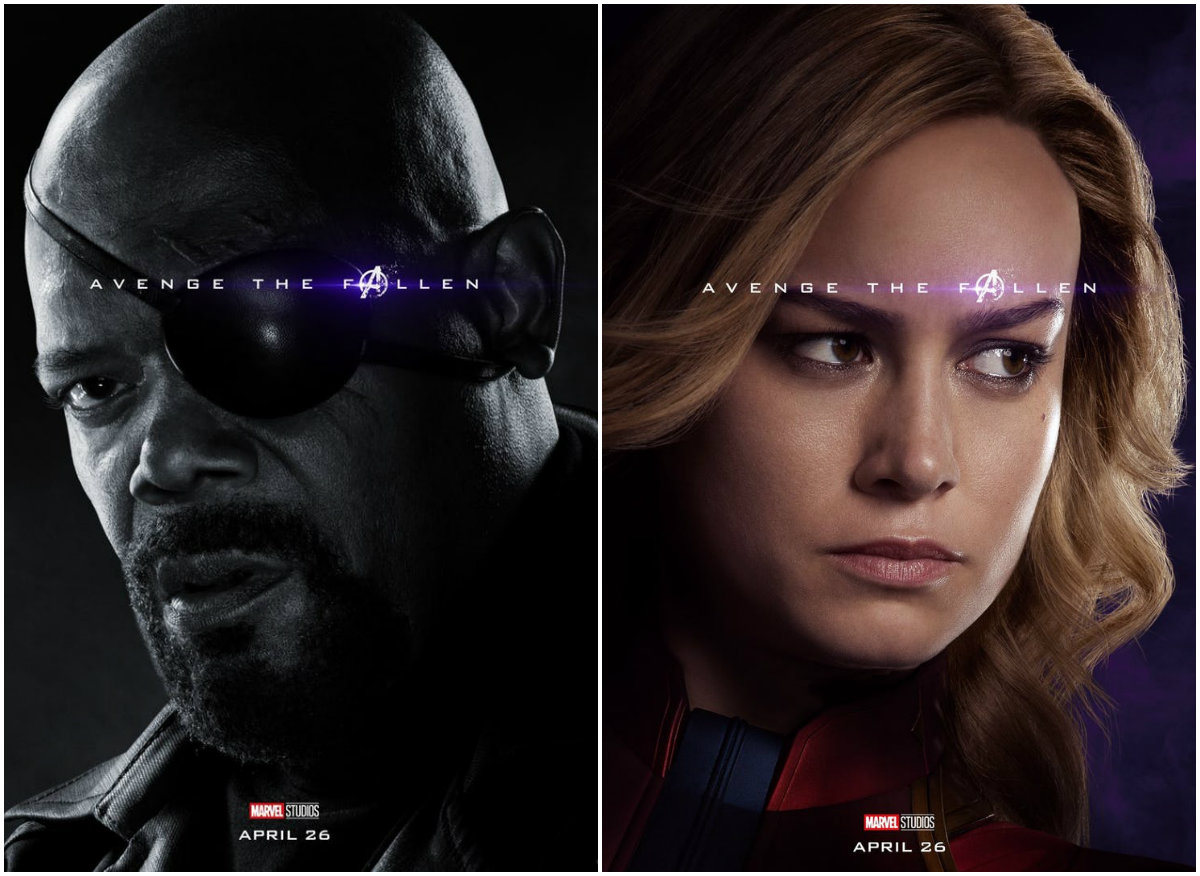 Nick Fury and Captain Marvel ~Avengers: Endgame character posters