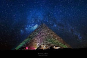 PYRAMIDS EGYPT BLUE NIGHTS