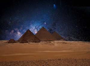 PYRAMIDS EGYPT BLUE NIGHTS