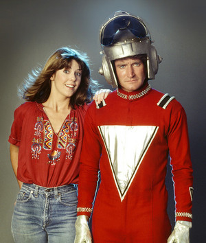 Pam Dawber and Robin Williams