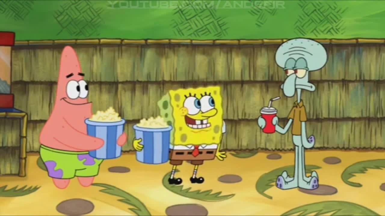 Patrick, Spongebob and Squidward
