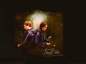 Peeta/Katniss Wallpaper - Trust Me