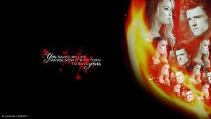 Peeta/Katniss kertas dinding - anda Saved My Life