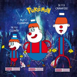 Pokemon (8 Generation) Clumsy, Clampsie & Crampzee