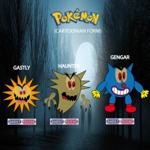 Pokemon (8 Generation) Gastly, Haunter & Gengar